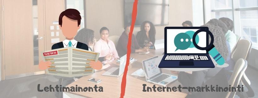 Lehtimainonta tai internet-markkinointi